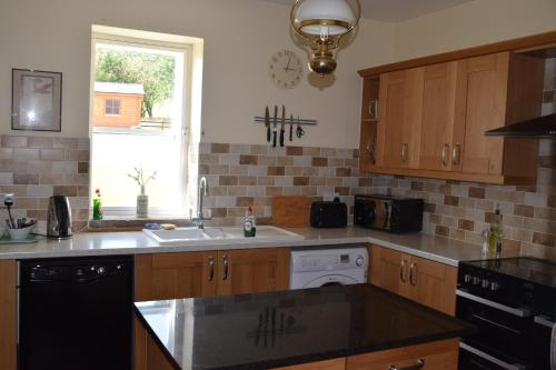 A kitchen or kitchenette at Saplinbrae Hotel and Lodges