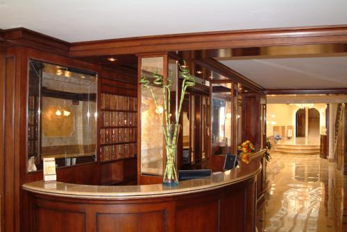The lobby or reception area at Hotel Belle Epoque