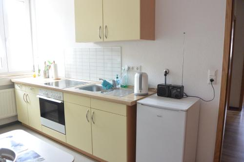 Küche/Küchenzeile in der Unterkunft Auerbachs Keller
