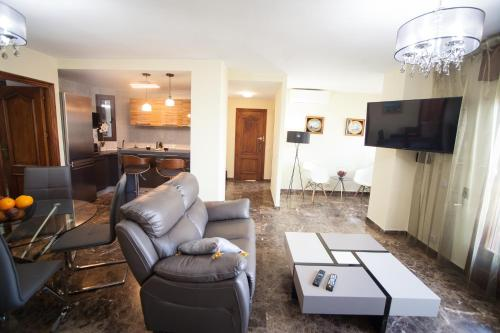 Zona de estar de Apartment on Bautista Lafora 2