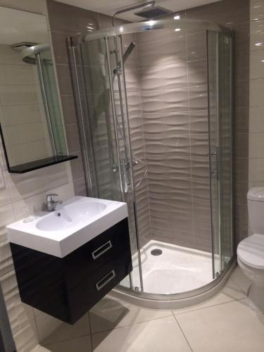 A bathroom at MSM locations