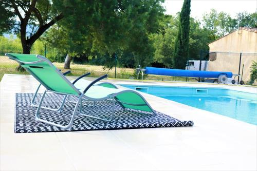 The swimming pool at or near Terre de Sel