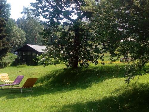 """Ein Garten an der Unterkunft Hotel-Pension """"Zum Ochsenkopf"""""""