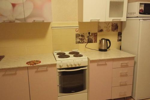 A kitchen or kitchenette at Апартаменты Долгопа