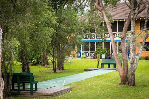A garden outside Vacation Village