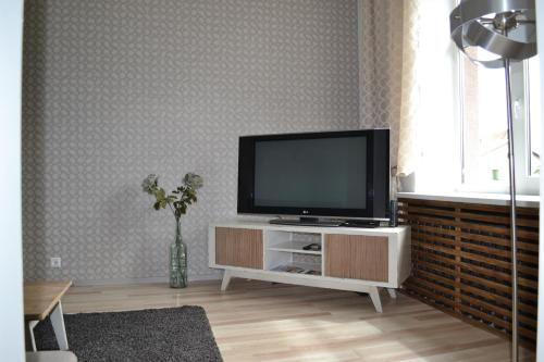 A television and/or entertainment center at Vee 4 City Center Apartment
