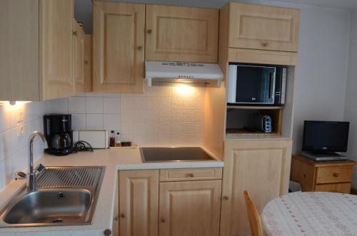 A kitchen or kitchenette at Appartement Les Bouquetins