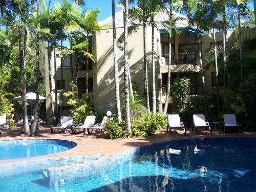 The swimming pool at or near Ocean Breeze Resort