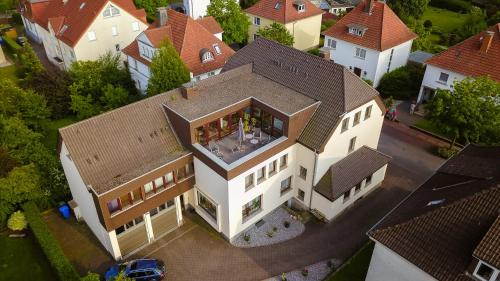 Blick auf Haus Eyers aus der Vogelperspektive