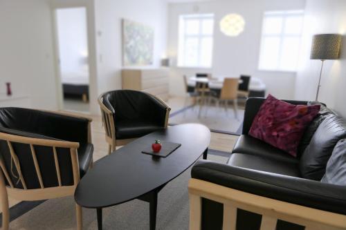 Et opholdsområde på Dragør Hotel & Apartments