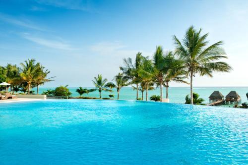 The swimming pool at or near Melia Zanzibar