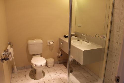 A bathroom at Hume Villa Motor Inn