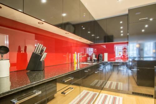 Küche/Küchenzeile in der Unterkunft Hirschenplatz Apartments