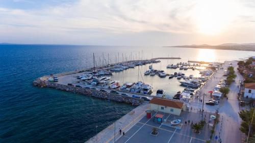 A bird's-eye view of Costa Domus Blue Luxury Apartments