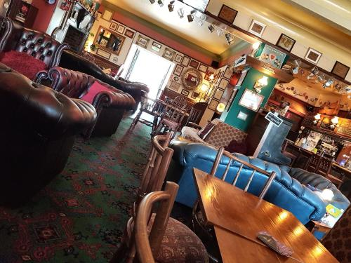 The lounge or bar area at The Black Horse