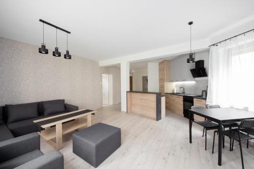 A seating area at Apartament Zebcowska