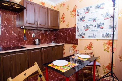 Кухня или мини-кухня в Апартаменты ЖК Акварель
