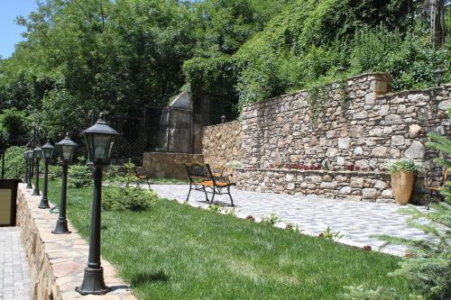 A garden outside Sanatoriy Princess Mary