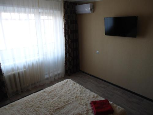 A television and/or entertainment center at Apartment on Leningradskaya 7