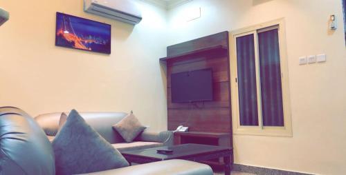 تلفاز و/أو أجهزة ترفيهية في Merfa'a Leen Resort شاليهات