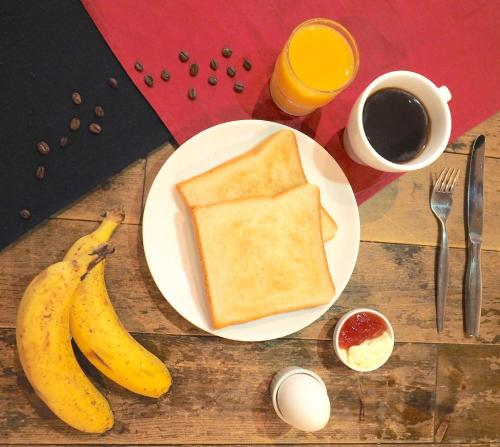 Breakfast options available to guests at Kaisu