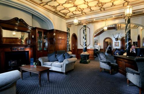The lobby or reception area at Macdonald Kilhey Court Hotel & Spa