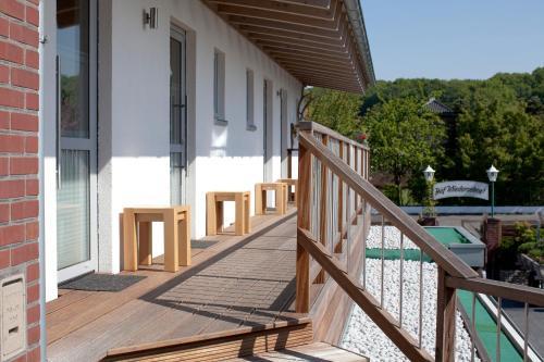 Ein Balkon oder eine Terrasse in der Unterkunft Hotel-Restaurant-Haus Berger