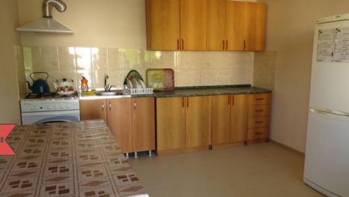 Кухня или мини-кухня в Guest House Belaya Lebed