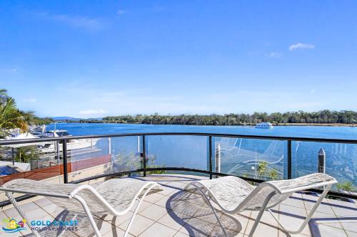 A balcony or terrace at Beach House @ The Cove