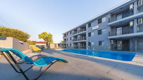 The swimming pool at or near Batavia Apartments