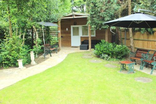 A garden outside Abbey Guest House