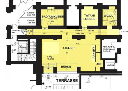 The floor plan of himmel und himmel