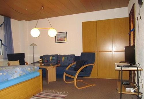 Ein Sitzbereich in der Unterkunft Ferienwohnungen Wiesenhof