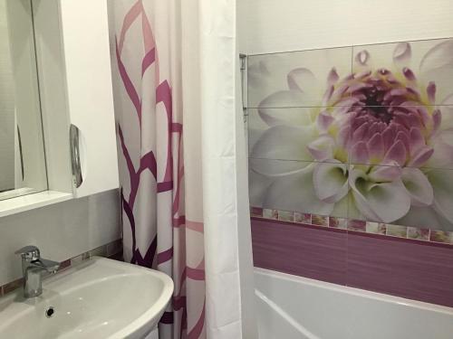 A bathroom at Apartments Zoya