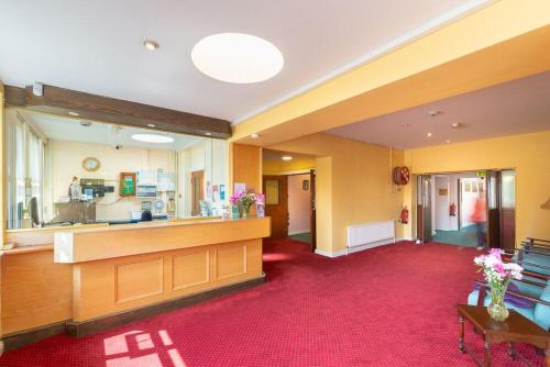 The lobby or reception area at St. Marys