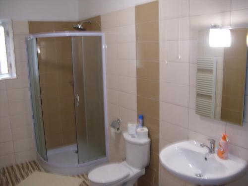 Koupelna v ubytování hřensko 114