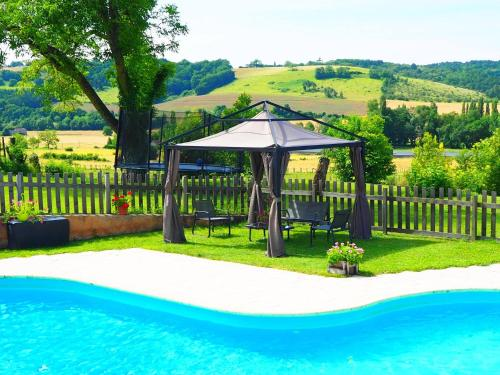 The swimming pool at or near La Belle Verte