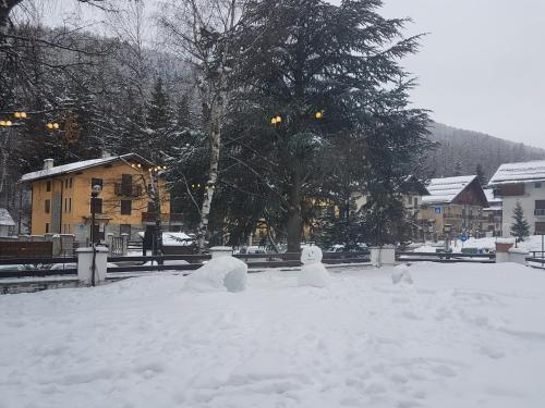Hotel La Betulla during the winter