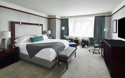 A bed or beds in a room at The Ritz-Carlton Georgetown, Washington, D.C.