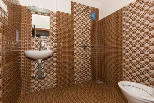 A bathroom at Zostel Kathmandu