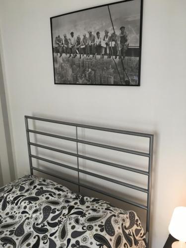 Łóżko lub łóżka w pokoju w obiekcie Apartament Praga