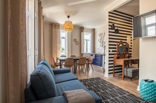 Uma área de estar em Carnot House