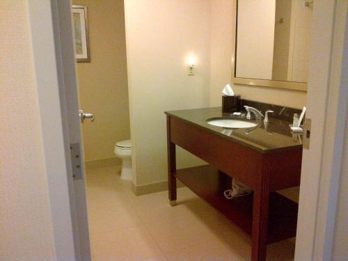 A bathroom at Hampton Inn by Hilton Brampton - Toronto