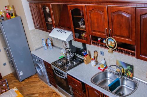 A cozinha ou cozinha compacta de Luxurious apartment in the center