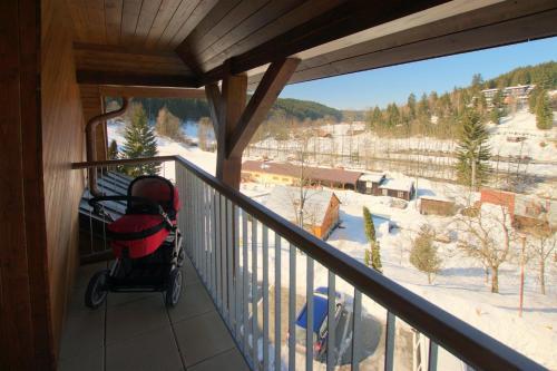 Balkón nebo terasa v ubytování Apartmína