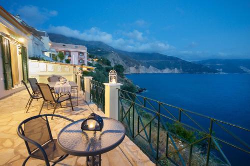 A balcony or terrace at Villa Apoplous