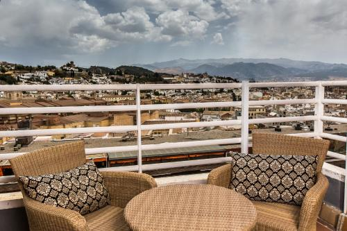 A balcony or terrace at Leonardo Hotel Granada