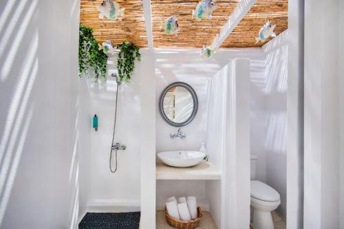 A bathroom at Sol Mare Salis