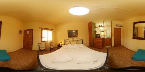 Ένα ή περισσότερα κρεβάτια σε δωμάτιο στο Oasis Studios AG PANTES