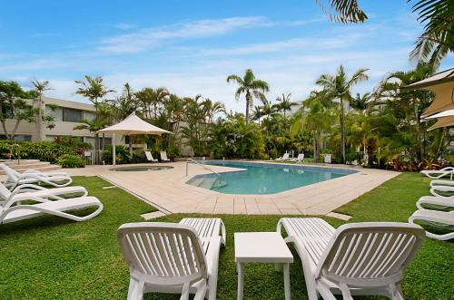 The swimming pool at or near Noosa Harbour Resort